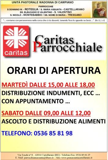 Avviso Caritas 21.12.2012