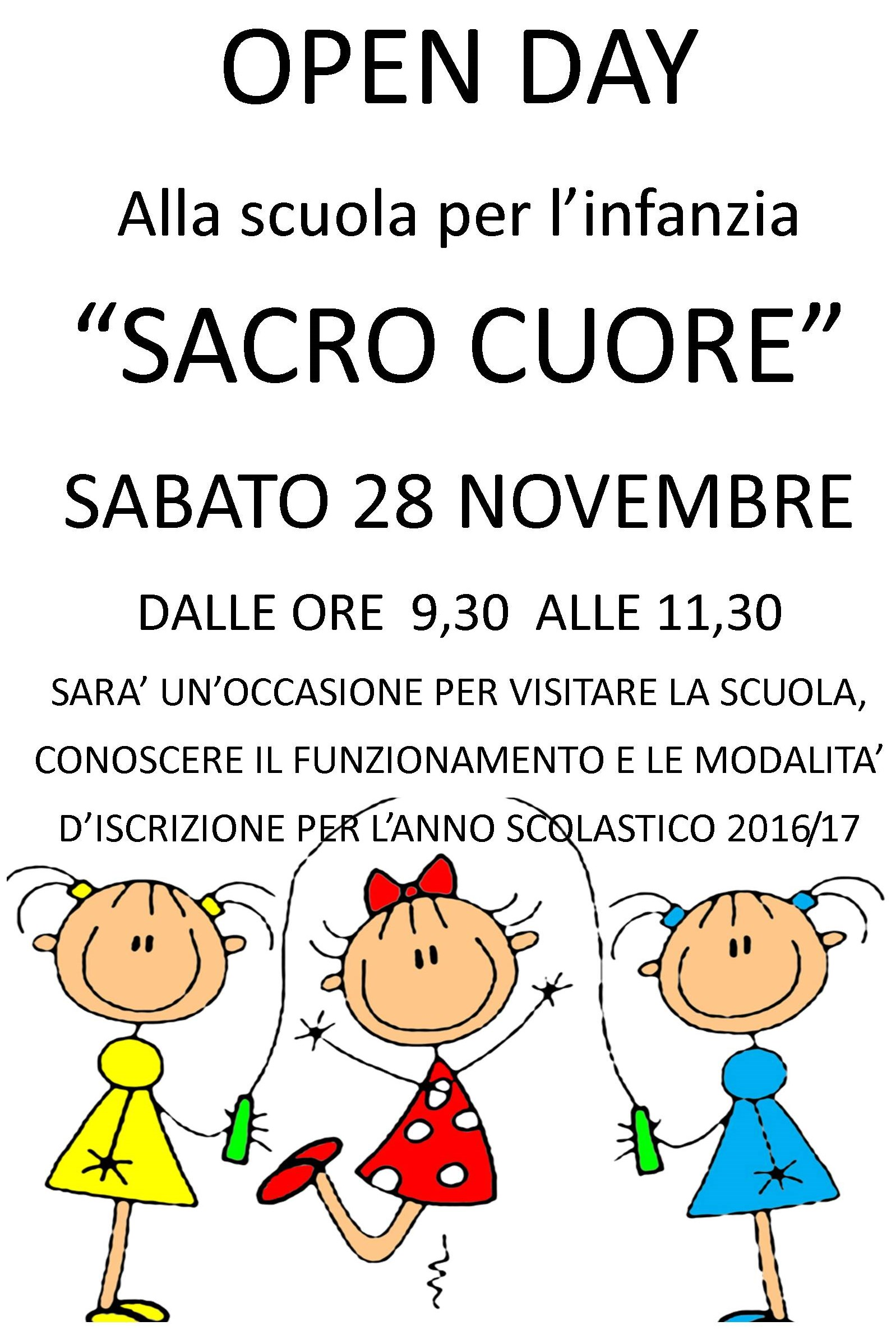 sc. Inf. Sc. Cuore Open day